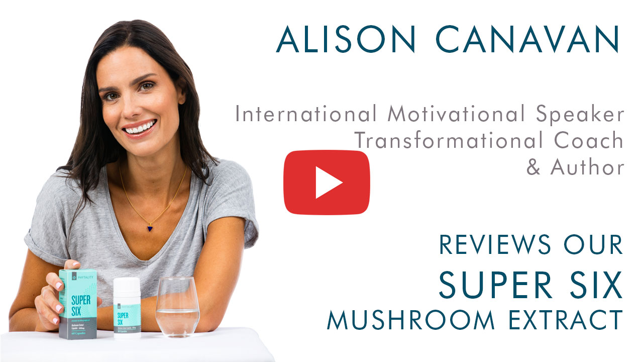 Alison Canavan - Phytality Super Six Mushroom Extract Review Video